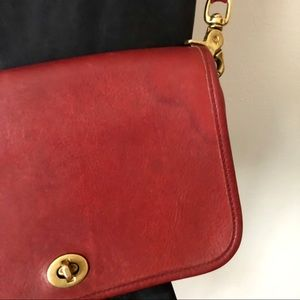 Coach Bags - Vintage 80s Coach Red Penny Crossbody Bag